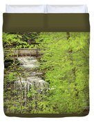 Bridge Over Little Clifty Falls Duvet Cover