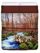 Bridge Over Mill Creek Duvet Cover