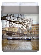 Bridge Over River Vltava Duvet Cover