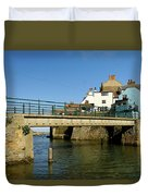 Bridge Over Staithes Beck Duvet Cover
