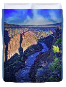 Bridge Over The Crooked River Gorge Duvet Cover