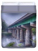 Bridge Over The Delaware River Duvet Cover