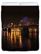 Bridge Over The Ohio Duvet Cover