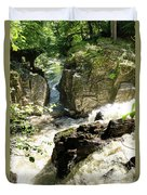 Bridge Over The River Braan, And The Black Falls In The Hermitage, At Dunkeld Duvet Cover
