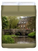 Bridge Over The River Clun Duvet Cover