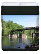 Bridge Over The River Duvet Cover