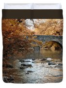 Bridge Over The Wissahickon At Valley Green Duvet Cover