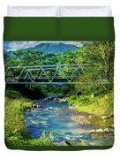 Bridge Over Tropical Dreams Duvet Cover