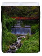 Bridge Over Waterfall Duvet Cover