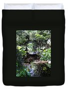 Bridge Reflection At Blarney Caste Ireland Duvet Cover