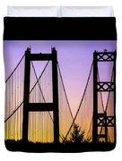 Bridge Sunset Duvet Cover