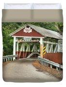Bridge Through The Somerset Forest Duvet Cover