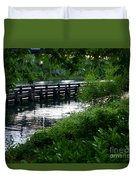 Bridge Through The Trees Duvet Cover