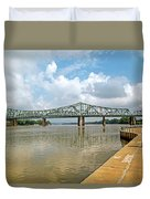 bridge to Belpre, Ohio Duvet Cover