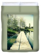 Bridge To Evening Island Duvet Cover