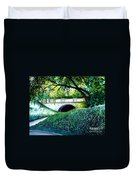 Bridge To New York Duvet Cover