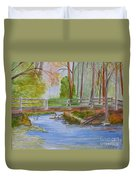 Bridge To Serenity   Smithgall Woods State Park Duvet Cover