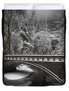 Bridges Of Multnomah Falls Duvet Cover