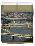 Bridges Of Pittsburgh Duvet Cover