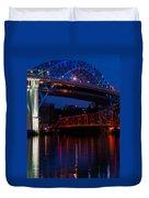 Bridges Red White And Blue Duvet Cover