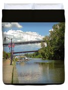 Bridges Spanning The Rondout Duvet Cover