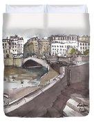 Bridging The Seine Duvet Cover