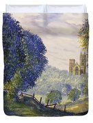 Bridlington Priory From Woldgate On The Hockney Trail Duvet Cover