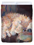 Brie As Odalisque Duvet Cover