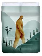Brief Encounter With The Tall Man Duvet Cover