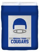 Brigham Young Cougars Vintage Football Art Duvet Cover