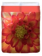 Red And Yellow Flower Bloom Duvet Cover