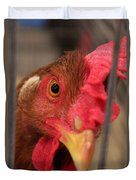Bright And Colorful Chicken Who Are You Duvet Cover