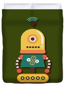 Bright And Colorful Robot Toy Duvet Cover
