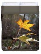 Bright And Sunlit Leaf, Arizona Duvet Cover