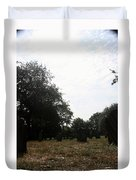 Bright And Sunny Day In The Cemetery Duvet Cover