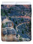 Bright Angel Trail @ Grand Canyon Duvet Cover