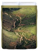 Bright Angel Trail Abstract Duvet Cover