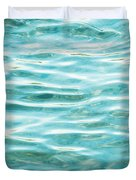 Bright Aqua Water Ripples Duvet Cover