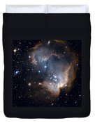 Bright Blue Newborn Stars Blast A Hole Duvet Cover