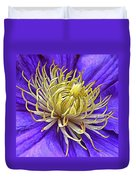 Bright Clematis Center Duvet Cover