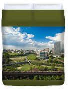 Bright Clouds In Downtown Richmond Va Duvet Cover
