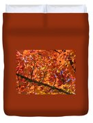 Bright Colorful Autumn Tree Leaves Art Prints Baslee Troutman Duvet Cover
