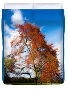 Bright Fall Colors Duvet Cover