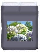 Bright Floral Art Pastel Blue Purple Hydrangeas Flowers Baslee Troutman Duvet Cover