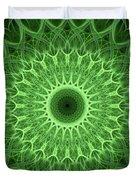 Bright Green Mandala Duvet Cover