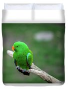Bright Green Parrot Duvet Cover