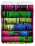 Bright Leather Bracelets Duvet Cover