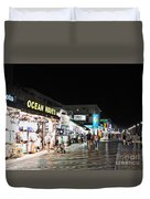 Bright Lights On The Boards Duvet Cover