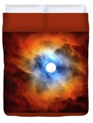 Bright Moon And Dark Clouds Duvet Cover
