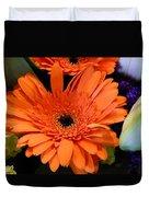 Bright Orange Daisy Duvet Cover